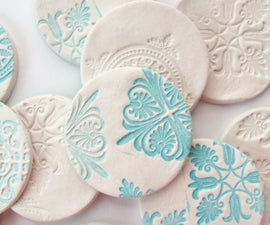 Stamped Clay Magnets.