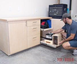 DIY Base Cabinet With Drawers