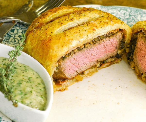 Individual Beef Wellington With Gorgonzola Cream Sauce