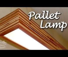How to make a Beautiful Pallet Lamp