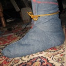 Make work slippers or ninja bootie booties or boot covers