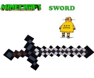 LIFE SIZE MINECRAFT SWORD WALL PIECE.