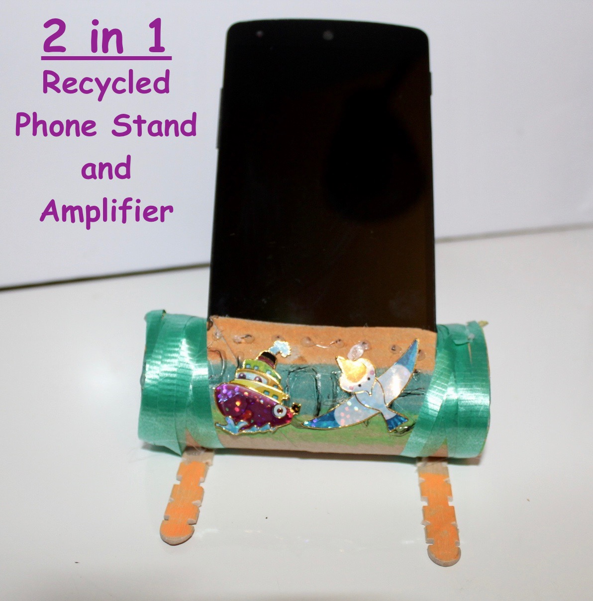 Picture of Recycled Dual-Purpose Phone Dock and Sound Amplifier