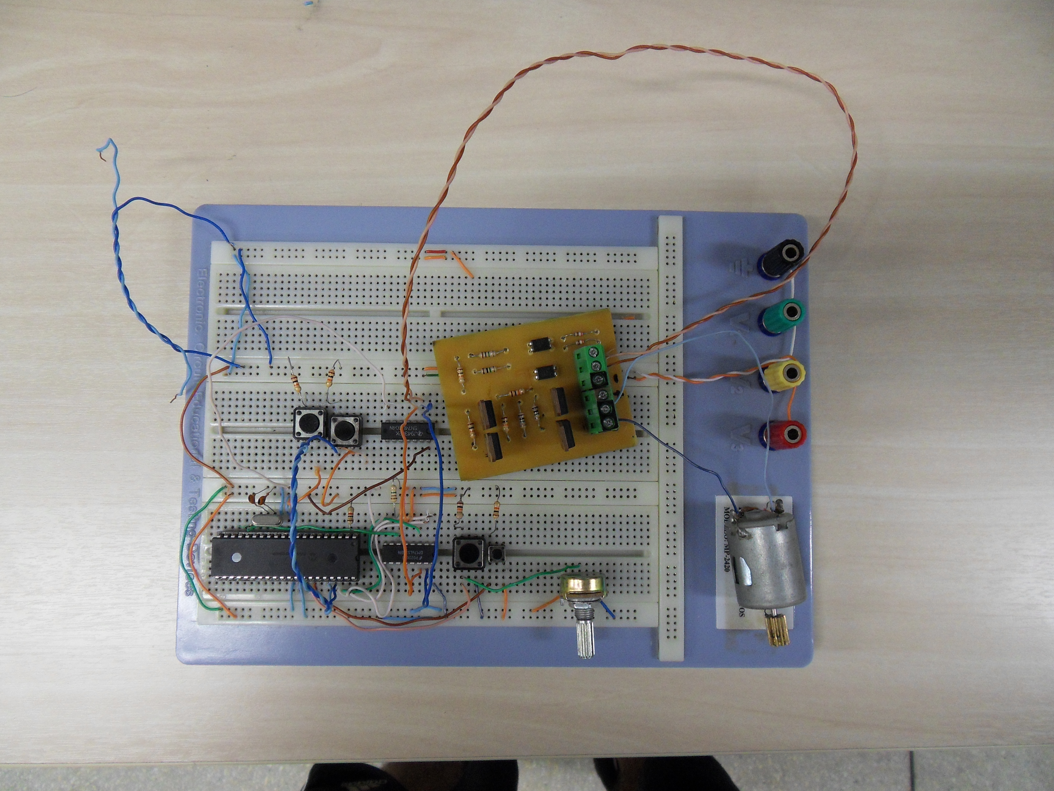 Picture of DC Motor Control With Joystick and PIC16F877A