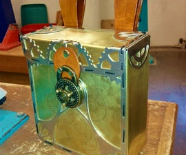 Photos only - Steampunk etched brass pouch