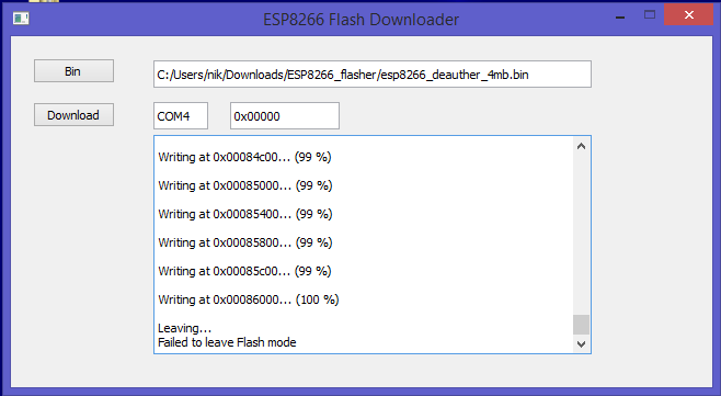 Picture of Flashing the ESP8266