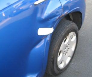 Pull a Car Dent Using a Telephone Pole