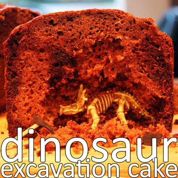 Dinosaur Excavation Cake