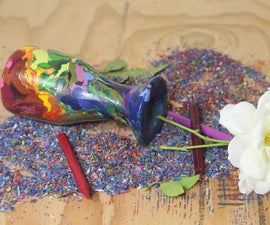 Rainbow Bud Vase