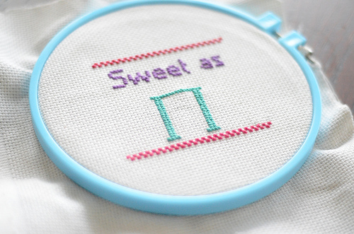"""Picture of """"Sweet As Pi"""" Cross Stitch"""