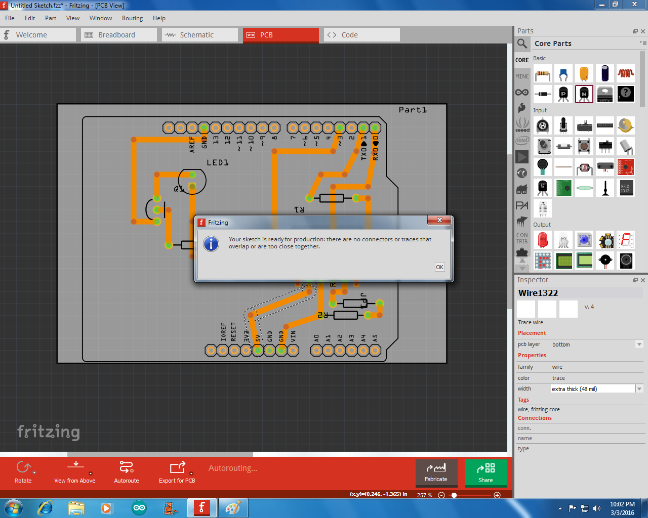 Picture of Designing the PCB