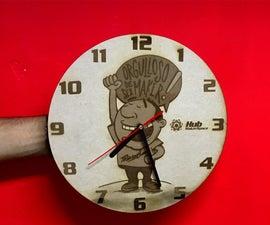 Reloj Maker Que Todo Makerspace Debe De Tener (Maker Watch) Laser Cut