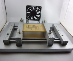 Wooden Vice for Soldering PCB (with a Fan)