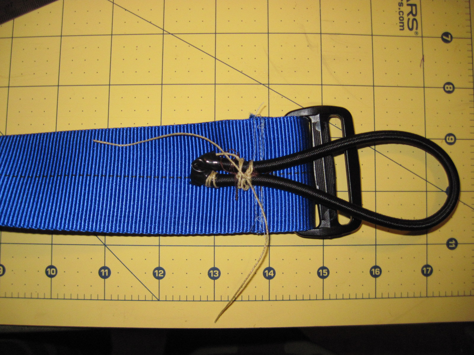 Picture of Stitch Shock Cord Onto Webbing
