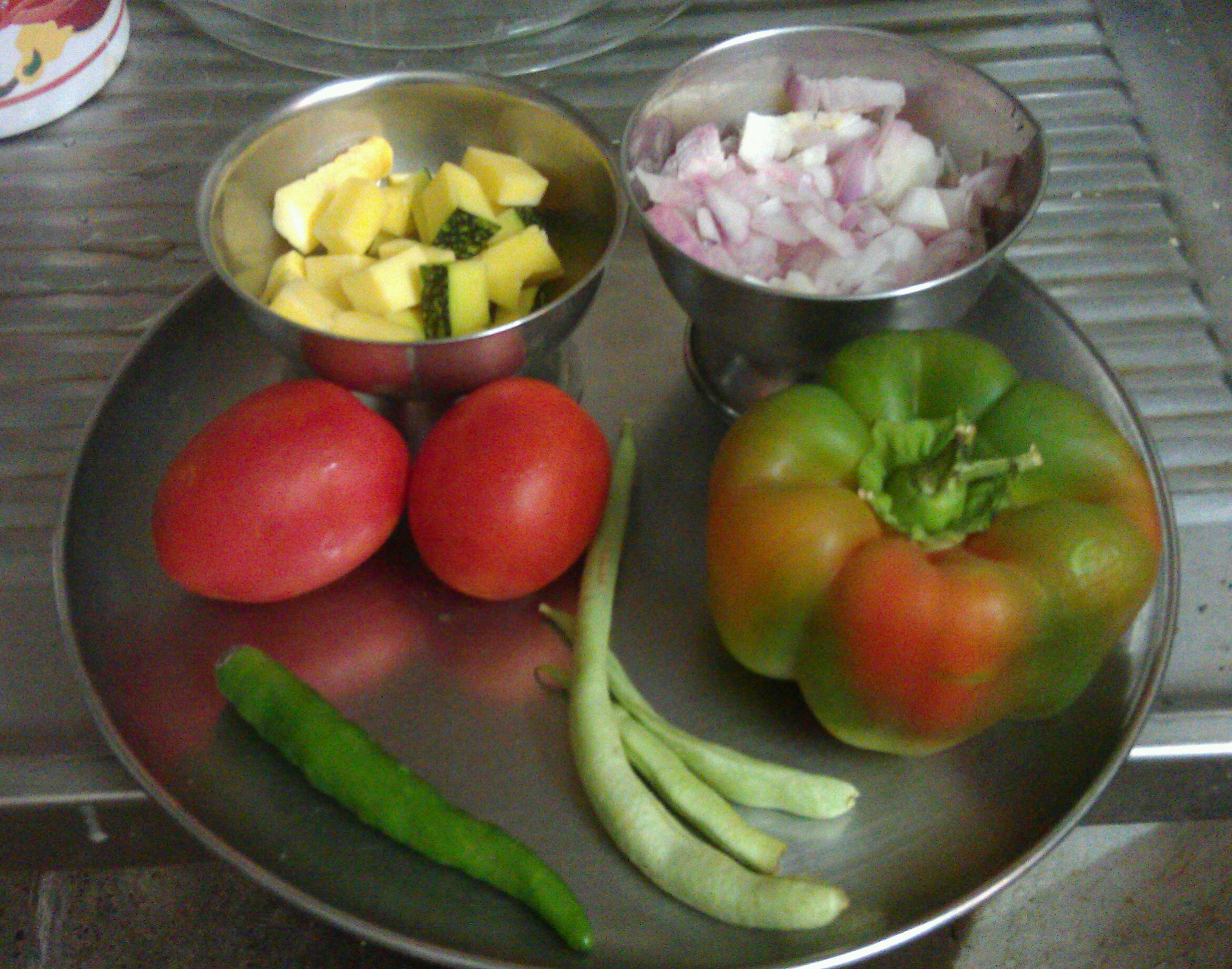 Picture of Cut Vegetables