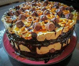 Peanut Butter & Pretzel Ice Cream Cake