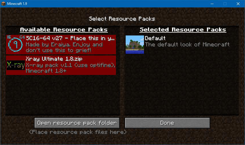 Picture of Resource Packs