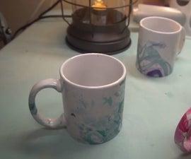 How to Make Designer Marbled Mugs in Under 5 Mins