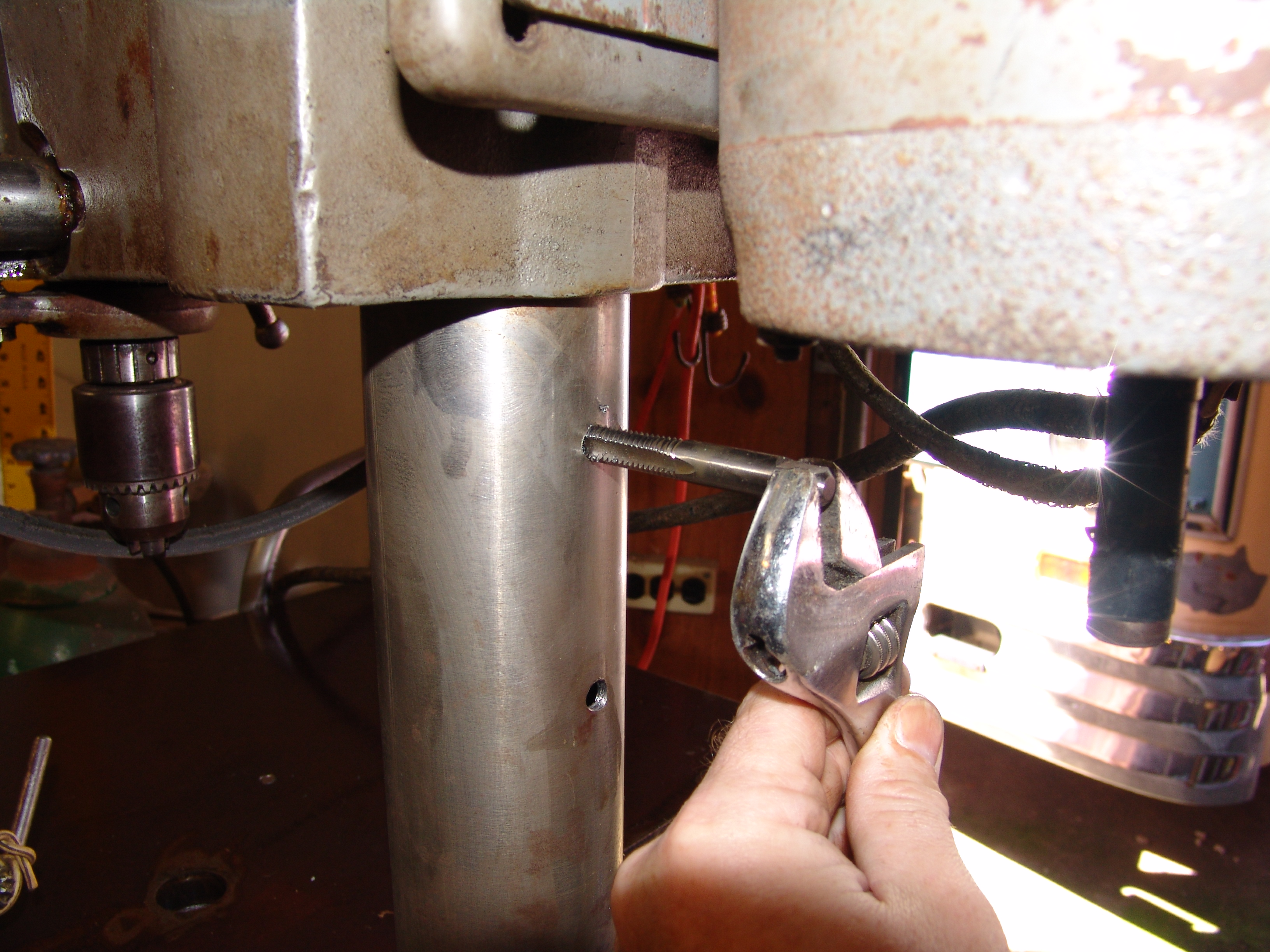 Picture of Marking / Drilling / Tapping Winch Mounting Holes