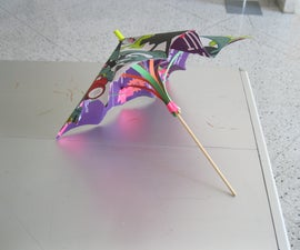 How to Make a Paper Umbrella using posters and office supplies