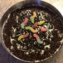 Oreo Cake with gummy worms!