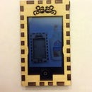 """Laser cut wood cell phone holder. """"I made it at Techshop"""""""
