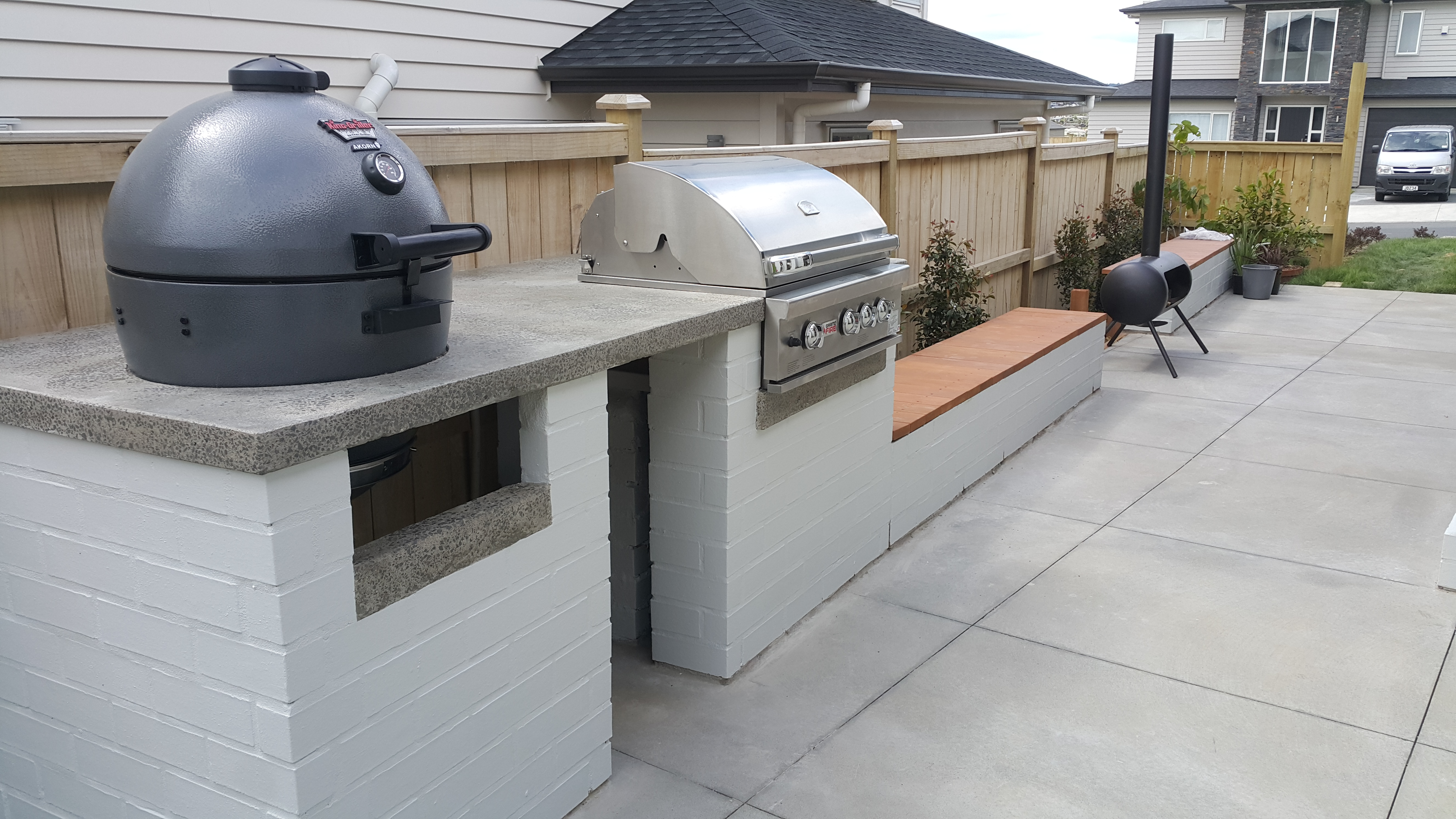 Picture of Brick and Polished Concrete BBQ Table