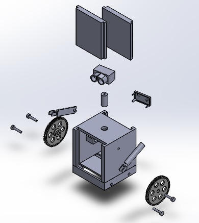 Picture of 3-D Printed Parts and Assembly