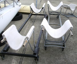 Make Boat Cradle Dollies from Carpet Scraps, Metal Chairs, and/or Shopping Carts