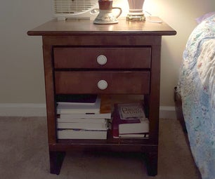 Nightstand With Hidden Power Compartment
