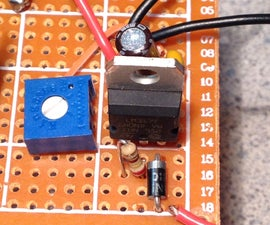 Wiring an adjustable voltage regulator