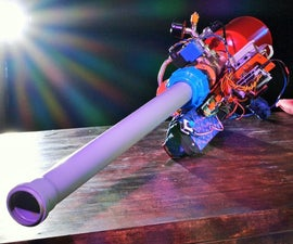 Automatic Pneumatic Cannon. Portable and Arduino Powered.