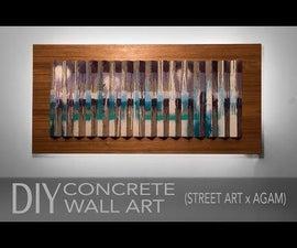 Street-Art Inspired Concrete Wall Art W/ Hidden LED Backlighting
