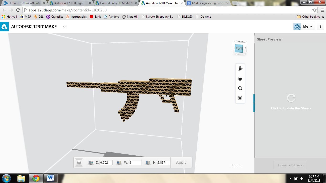 Picture of Cardboard Rifle Prop