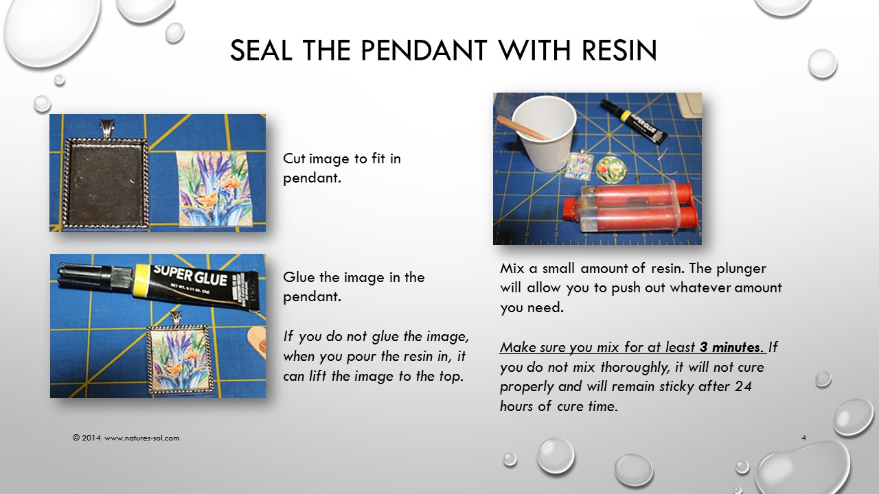 Picture of Resin - the Important Step.