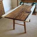 Oak & Concrete Dining Room Table