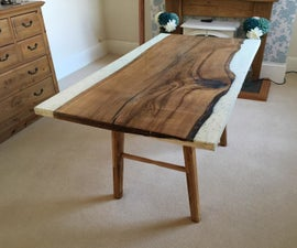 Oak & Concrete Dining Room Table