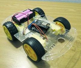 Simplest Wifi Car Using ESP8266 Motorshield