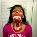Big Mouth Halloween Face Paint!!!