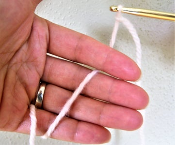Making Center Ring: Thread Yarn on Left Hand, Hold on Sl Knot/working Stitch With Left Hand and Hold Hook With Right Hand