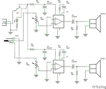 Connect the Speakers to the Circuit