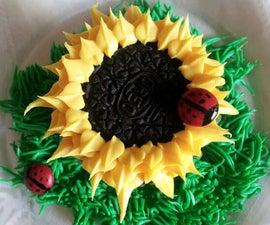 Oreo Sunflower Cupcakes (m&m ladybug)