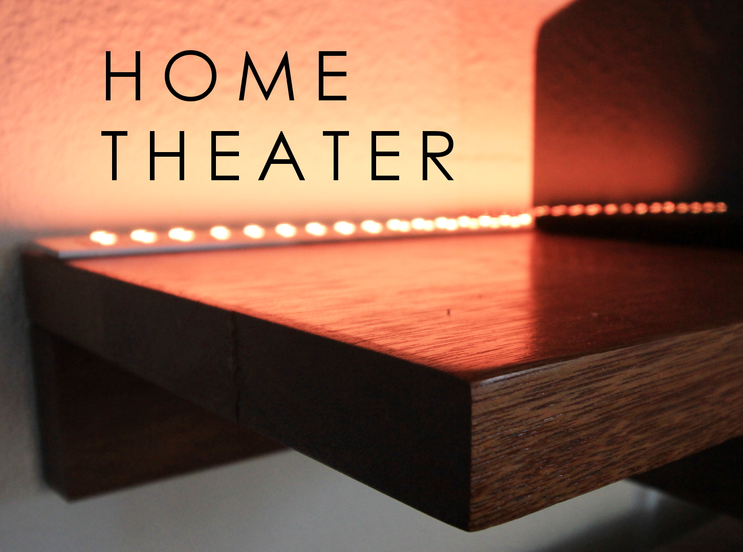 Picture of Home Theater LED Lighting & Speaker Set-Up