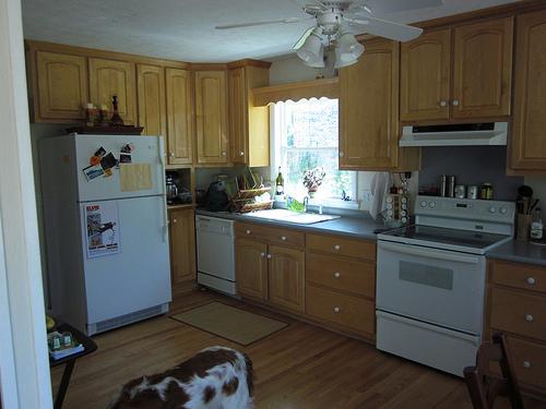 Picture of Granite Tile Kitchen Countertops