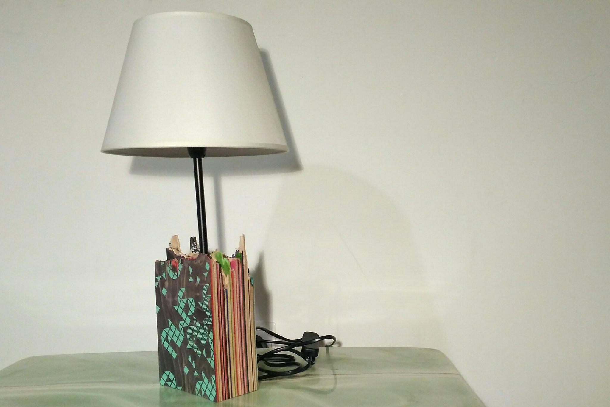 Picture of Recycled Skateboard Lamp