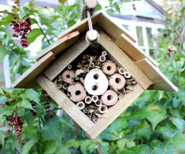 Home-made Insect Hotel. Part 2 - Suspended Eco Lodge for Hibernation. Hotel a insectes suspendu.