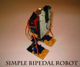 Make a Simple Bipedal Humanoid Robot (Servo Walking Robot)