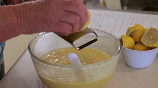 Grate Lemon Rind and Add the Juice
