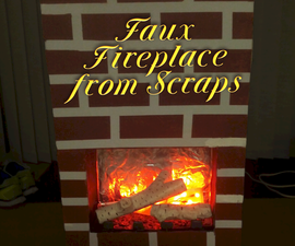 Faux Fireplace from Scraps