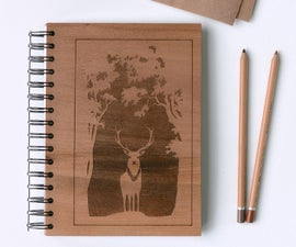 Wooden Notebook With Engraved Cover